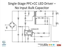 capacitor selection helps achieve long lifetimes for led lights edn 9 shows a single stage combined pfc and cc led power supply it doesn t need a bulk capacitor because it doesn t attempt to hold the input voltage rail