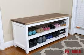 DIY Shoe Storage Bench for Entryway