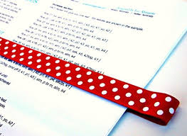 Some Day Pattern Place Keeper Magnet Bookmark By