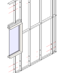 Framing Revit Walls with Steel Studs Plates Metal Framing Wall