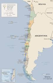 Mappa politica del Cile - Mappa politica del Cile (America del Sud -  America)