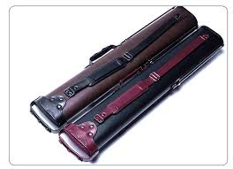 <b>New Cuppa</b> 2 Butts 4 Shafts Pool Cue Case 6 Holes Bull Head Style ...