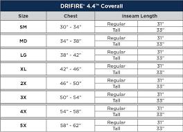Aramark Coverall Size Chart Drifire 4 4 Fr Coverall