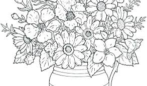 Adult Flower Coloring Pages Simple Flower Coloring Pages Flower