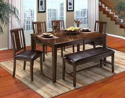 new classic latitudes 6 piece round corner dining set in chestnut