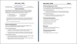 two pages resume format