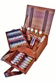 maimeri puro oil painting walnut luxury box