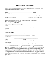 Reason For Leaving Job On Application Form Sample Generic Job Application 8 Examples In Pdf