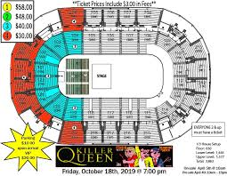 Family Arena St Charles Mo Seating Chart Monsters Of Mock Feat Killer Queen