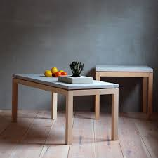 lye coffee table from g a d in solid birch and gotlandic limestone