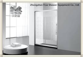 china clear tempered glass shower enclosure shower screen one fix one sliding shower cabin china frosted shower screen slanting rain pattern shower door