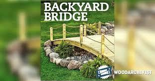 backyard bridge build wooden bridge over creek