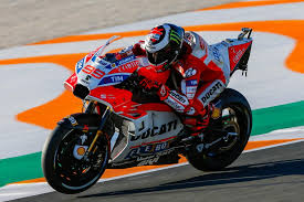 jorge lorenzo topped the charts on friday at valencia aboard his factory ducati