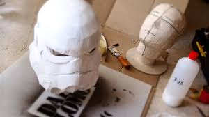 Make Stormtrooper Helmet Part 3 - Paper Mache & Plaster // How to - YouTube