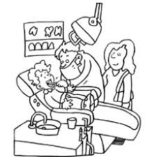 Small Picture coloring page tooth cartoon holding toothbrush and dental floss