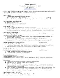 Occupational Therapy Resume Radiation Therapist Resume Resume Job  Application