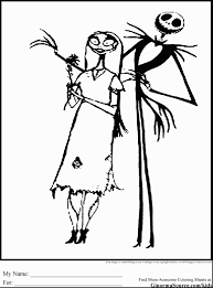 Nightmare Before Christmas Coloring Pages Is