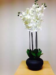 artificial potted plant 84cm extra large white orchid in a pot house office indoor