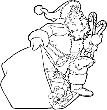 Small Picture Santa Bring You A Gift Coloring Pages For Kids Xmas Christmas