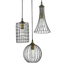 industrial cage work light chandelier furniture t modern brief large nobility pendant light wrought iron bird
