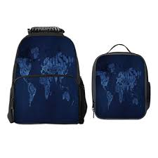 Design Team Bags Amazon Com Sara Nell World Map School Backpack Lunch Bag