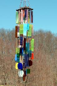wind chimes stained glass
