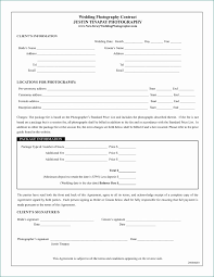 Wedding Photography Contract Form Video Contracts Template Regular 17 Best Images About Wedding