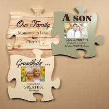 lot of 3 personalized puzzle piece wall art picture frames gift holiday gift