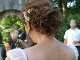 Image Coiffure Mariée Brune Cheveux Mi Long Coiffure Cheveux
