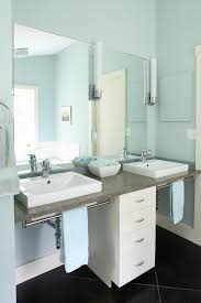 handicapped accessible bathroom sink counter. wheelchair accessible bathroom contemporary with above counter sinks blue. image by: taggart construction handicapped sink