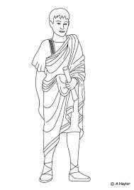 Kids N Fun Kleurplaat Romeinse Tijd Romeinse Man