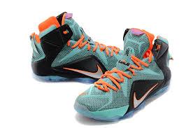 lebron water. lebron james 12 nike light green black orange basketball shoes water