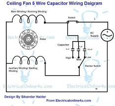5 wire ceiling fan capacitor wiring diagram 5 wire ceiling fan capacitor wiring diagram fan speed controller