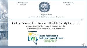 license renewal tutorial for nevada health facilities