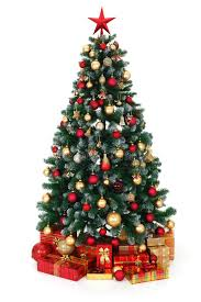 Download Green Decorated Christmas Tree And Presents Stock Photo - Image of  sphere, festive: