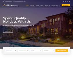 Best Hotel Website Design 2018 20 Hotel Website Templates To Build The Best Booking Website
