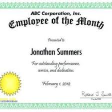 Employee Of The Month Template With Photo Free Employee Of The Month Certificate Templates 151618407533