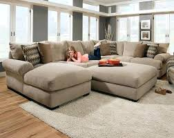 brown microfiber and leather sectional sofa with ottoman by acme