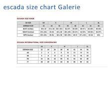 Escada Size Chart Escada Flannel Jeans