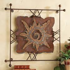 widely used iron art for walls regarding sun rawhide metal wall art small