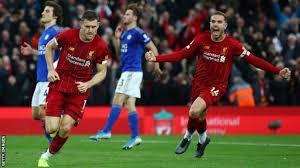 Team liverpool recibirá en su campo al equipo leicester city as part of the tournament premier league. Liverpool 2 1 Leicester City James Milner S Late Penalty Extends Reds Perfect Start Bbc Sport