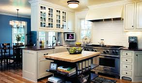 view in gallery custom built kitchen island in cherry wood stained with open shelves design anna berglin