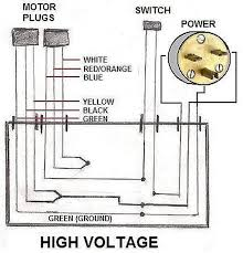 how to wire an electric motor to run on both 110 and 220 volts how to wire a 220 3 prong outlet make the connections inside the junction box according to the wiring diagram for high voltage operation connect the two wires for the switch in line with