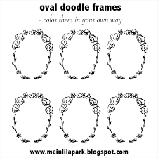 Small Picture free printable oval DIY doodle frames coloring page