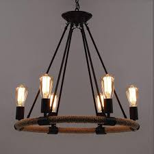 baycheer industrial retro vintage style with inch looking chandeliers length chain rope lights chandelier pendant light