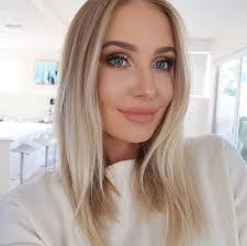 Blonde with blue eyes photo