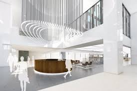Lobby office Pinterest Bright New Lobby Space Headed To Michigan Avenue Office Tower Curbed Chicago Bright New Lobby Space Headed To Michigan Avenue Office Tower