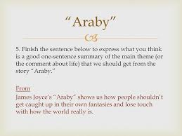 "james joyce ""araby"" and ""eveline"" ppt  10 ""araby"" 5"