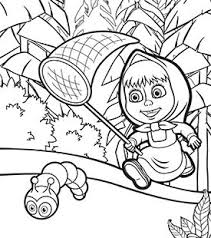 Small Picture Masha and the Bear Colouring In Cartoonito UK