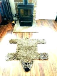 faux bear rug white teddy bear rug skin rugs for faux bearskin small size of